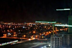 вид из окна верхнего этажа в новостройке Краснодара
