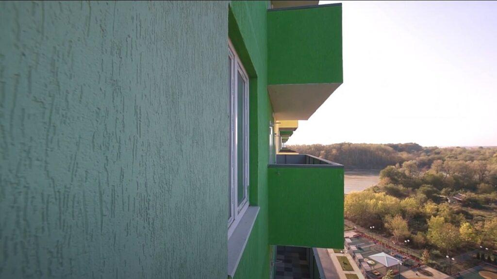 Вид с балкона ЖК Фреш
