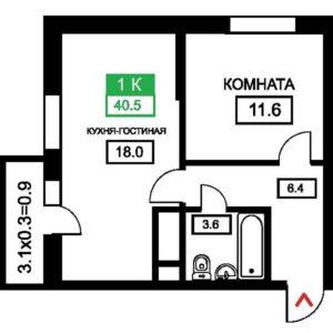 выбор квартиры с кухней гостиной евродвушка
