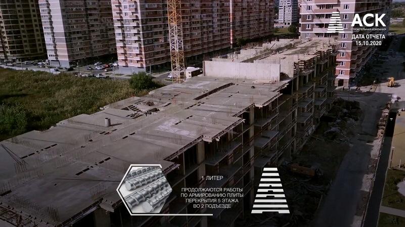 Ход строительства ЖК Мелодия Литер 1 Краснодар