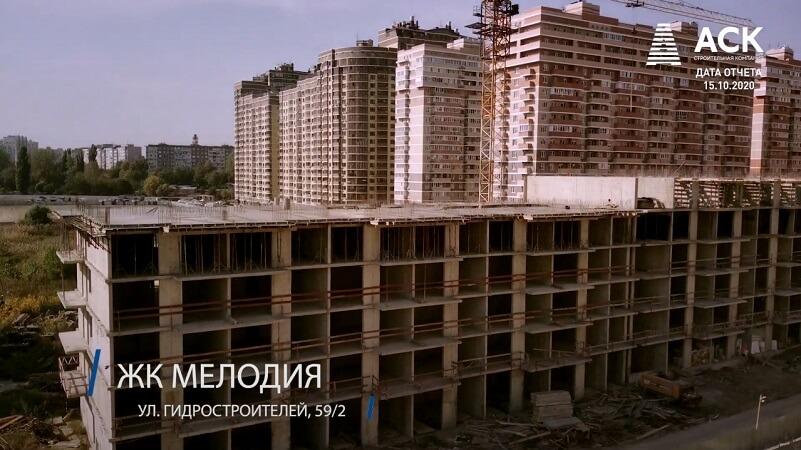 ЖК Мелодия Краснодар ход стройки