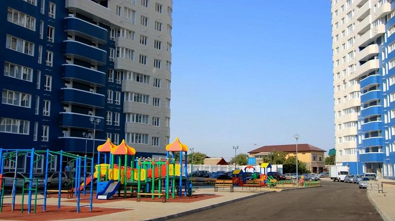 Детские площадки в ЖК Фонтаны