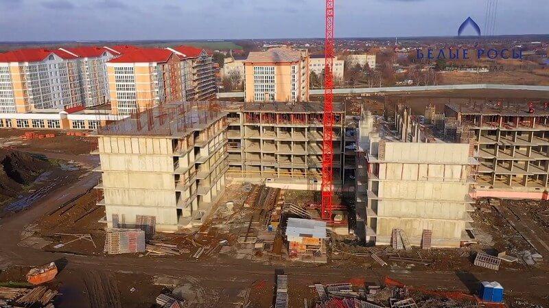 Белые росы Динская этап строительства
