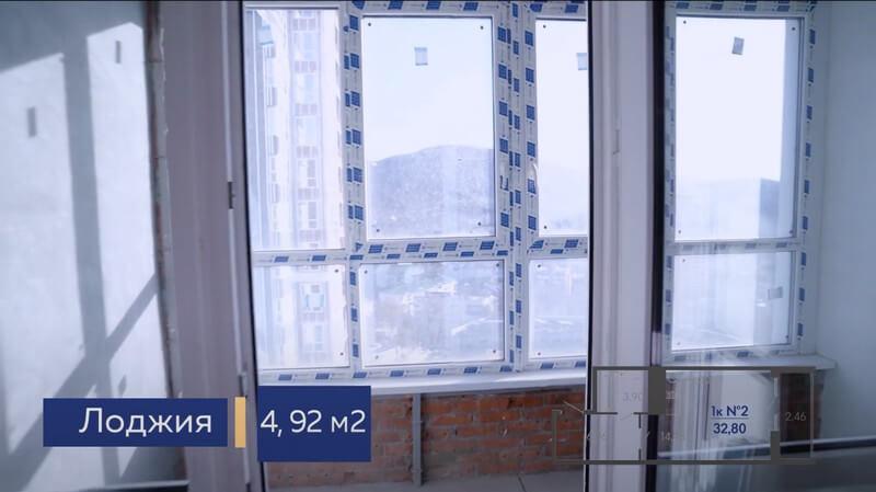 Фото лоджии квартиры студии Форт Адмирал 4 литер 13 этаж 32,80 кв.м.