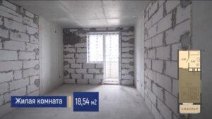Планировка жилой комнаты в квартире студии