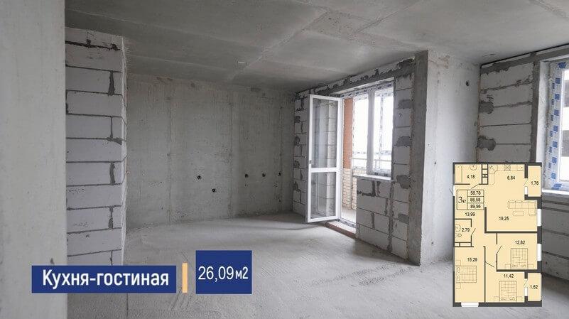 Планировка евро трехкомнатной квартиры