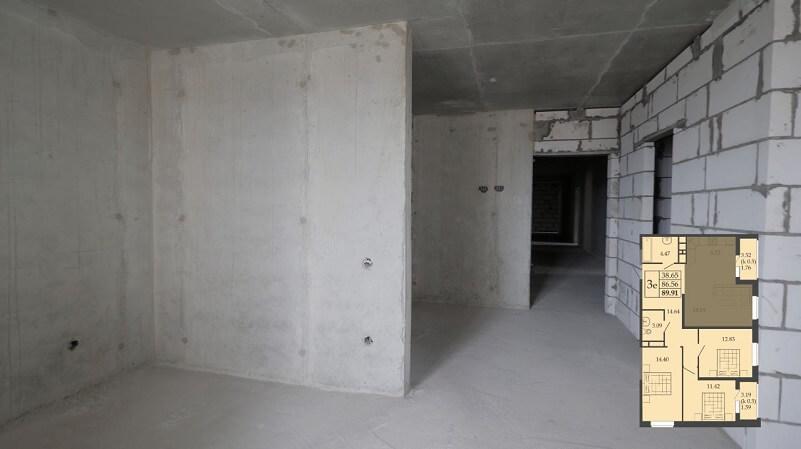 Трехкомнатная квартира европланировка